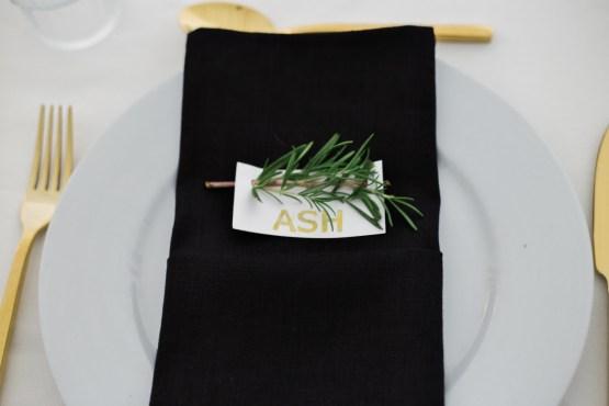 black napkin hire nz