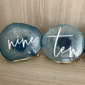 blue agate table number hire nz
