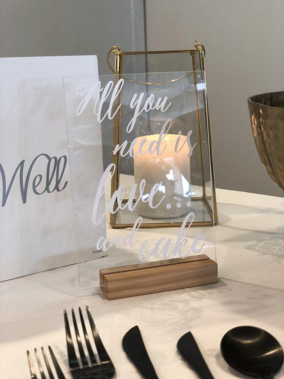 acrylic signage hire wedding nz