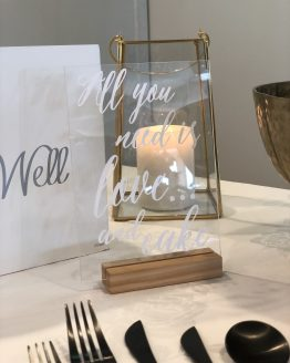 acrylic signage hire wedding nz