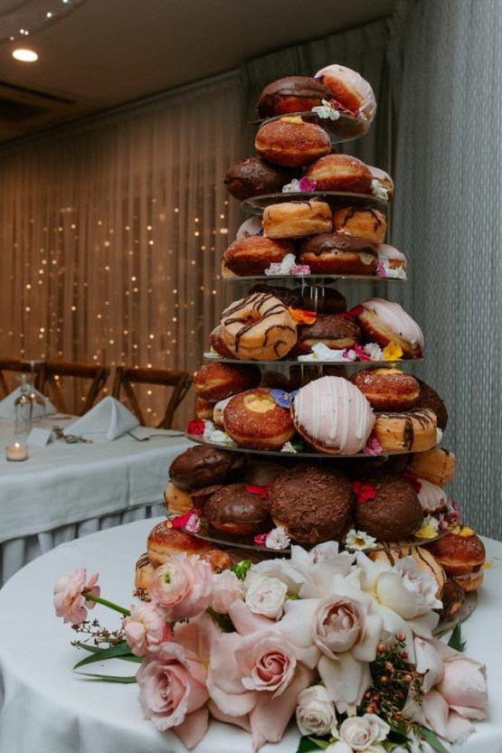 acrylic donut tower hire nz