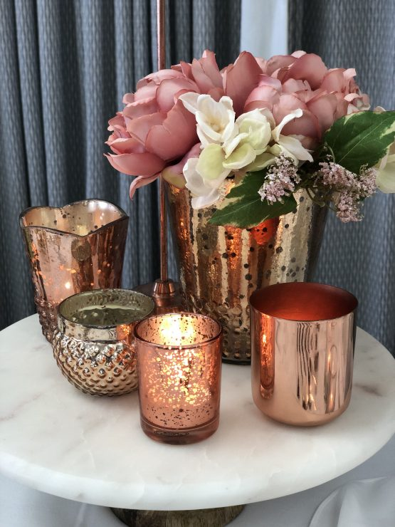 rose gold vase hire auckland nz