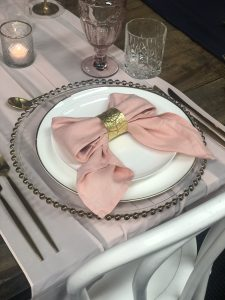 blush pink napkin hire nz