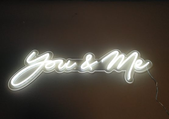 you and me neon sign wedding