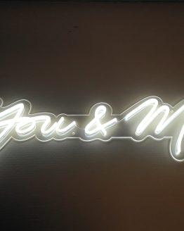 you and me neon sign wedding