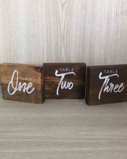 rustic table number hire nz