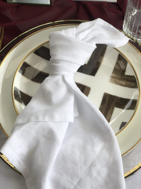 white linen napkin hire auckland nz