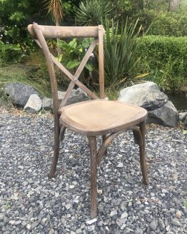 wooden cross back chair hire auckland nz