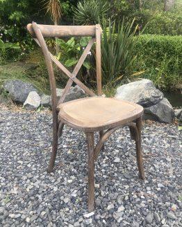 wooden cross back chair hire auckland nz
