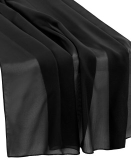 black chiffon table runner hire nz