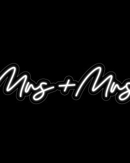 mrs and mrs neon sign hire nz