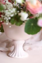blush compote vase hire nz