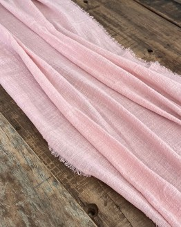 dusky pink cheesecloth gauze runner hire nz