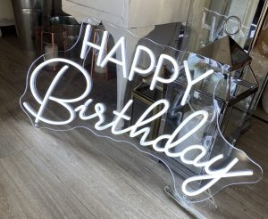 happy birthday neon sign hire auckland nz