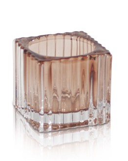 Champagne Ribbed Tealight Holder Hire NZ