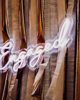 engaged neon sign hire auckland nz
