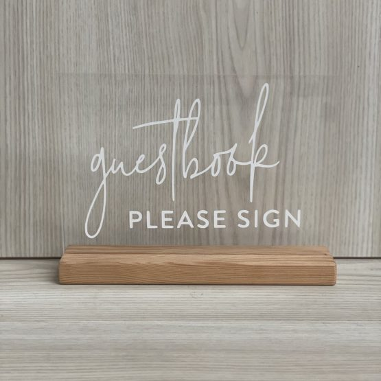 acrylic guestbook sign hire auckland nz