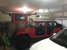 Jeep Top Hoist - Up