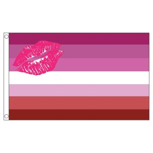 buy lipstick lesbian lgbt pride 5' flag online