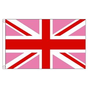 buy pink Union Jack lgbt pride 5' flag online