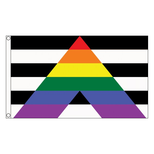 buy straight ally lgbt pride 5' flag online