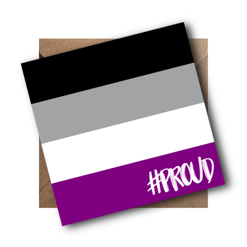 Asexual LGBT Flag Card #PROUD