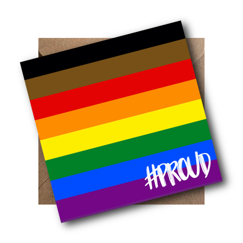 BAME LGBT Flag Card #PROUD