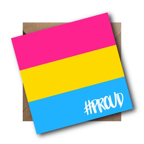 Pansexual LGBT Flag Card #PROUD