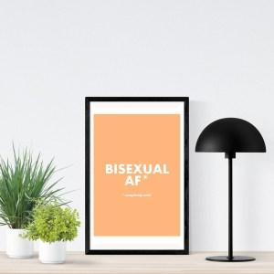 BISEXUAL AF A2 Poster
