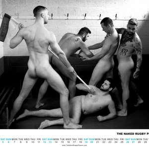 The Naked Rugby Players Calendar 2019