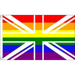 buy rainbow lgbt pride Union Jack flag online