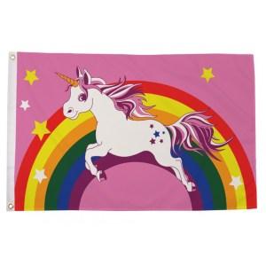 buy unicorn rainbow lgbt pride 5' flag online
