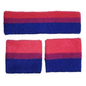 Bisexual sweatbands and headband set