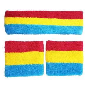 pansexual sweatband and headband set