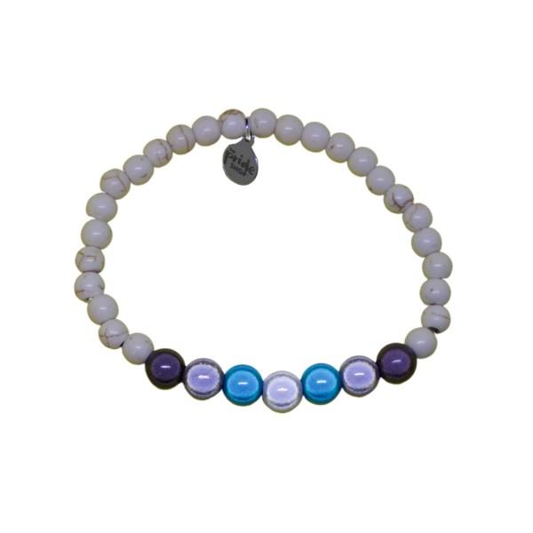 white stone bracelet with demiboy holographic set