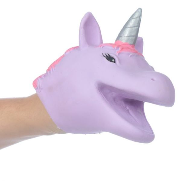 unicorn hand puppet purple