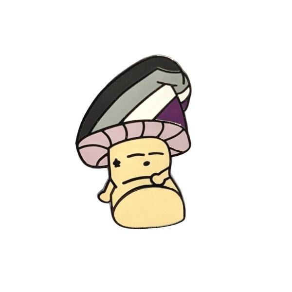 Asexual Mushroom Pin Badge