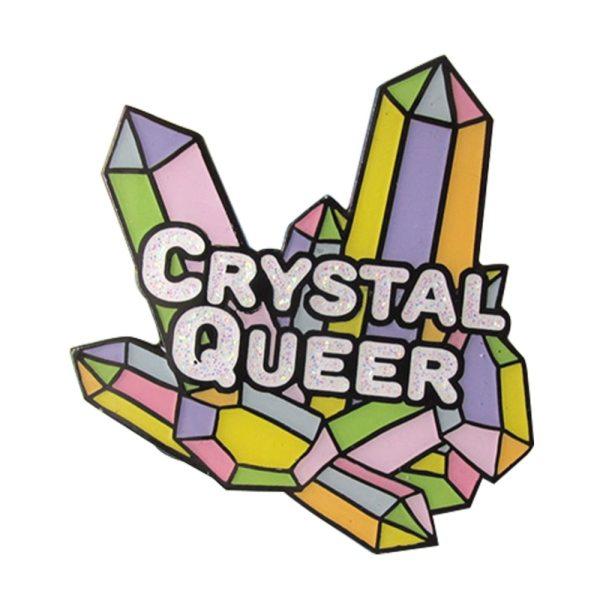 gay lgbt crystal queer pin badge