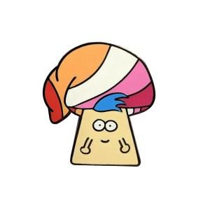 Lesbian Mushroom Pin Badge
