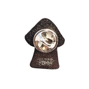 Transgender Mushroom Pride Metal Pin Badge