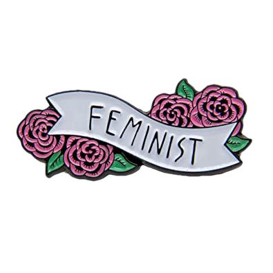 feminist pin badge