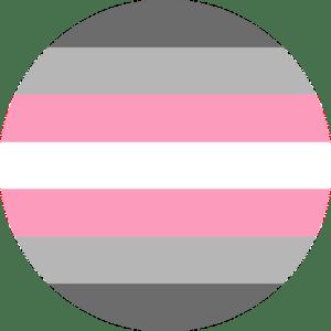 Demigirl pride flag pin badge for sale