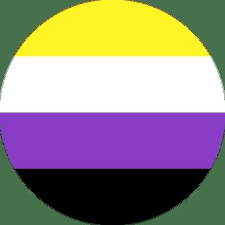 Non Binary Pin Badge for sale