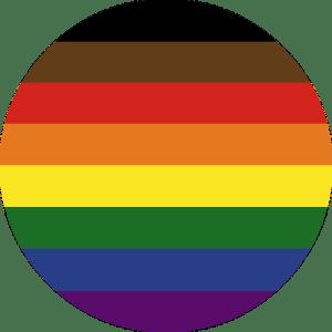 Philadelphia Pride Flag Pin Badge For Sale