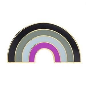 Asexual Rainbow Pin Badge