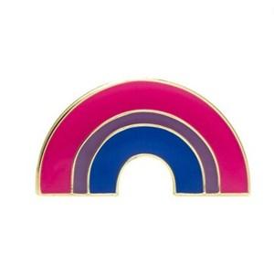 Bisexual Rainbow Pin Badge