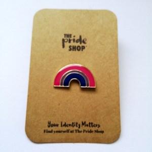Bisexual Flag Rainbow Pin Badge