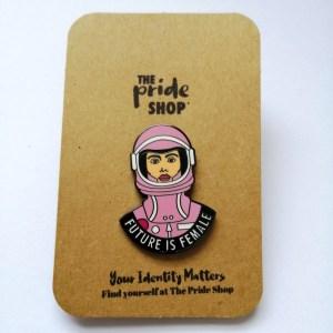 Future Is Female Feminist Pin Badge