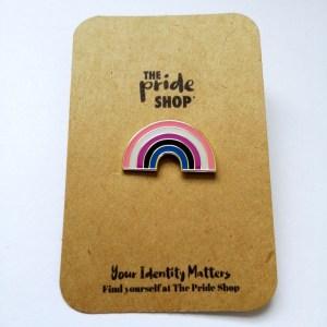 Gender Fluid Flag Rainbow Pin Badge