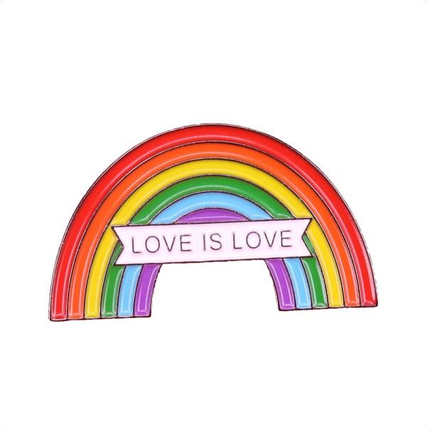Love is Love rainbow pin badge
